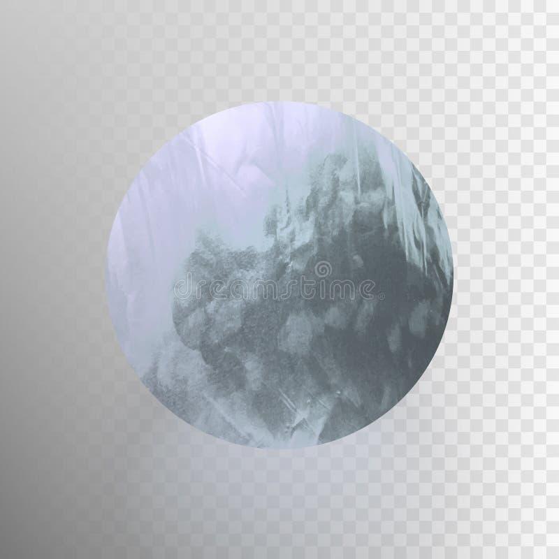Lagerföra den skinande vektorillustrationen, sparkly aluminum bladcirkel Textur för metallfolie som isoleras på en genomskinlig b stock illustrationer
