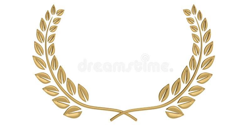 Lagerkrans som isoleras p? vit bakgrund illustration 3d royaltyfri illustrationer