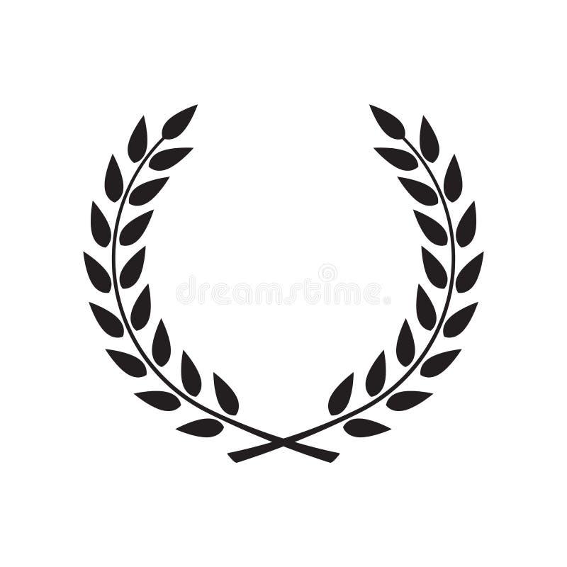 Lagerkrans - symbol av segern royaltyfri illustrationer