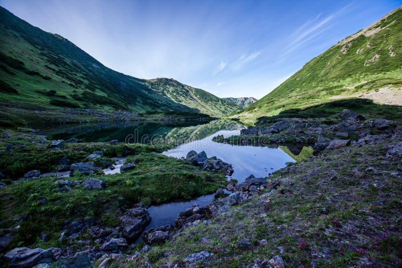 Laghi blu, Kamchatka fotografia stock