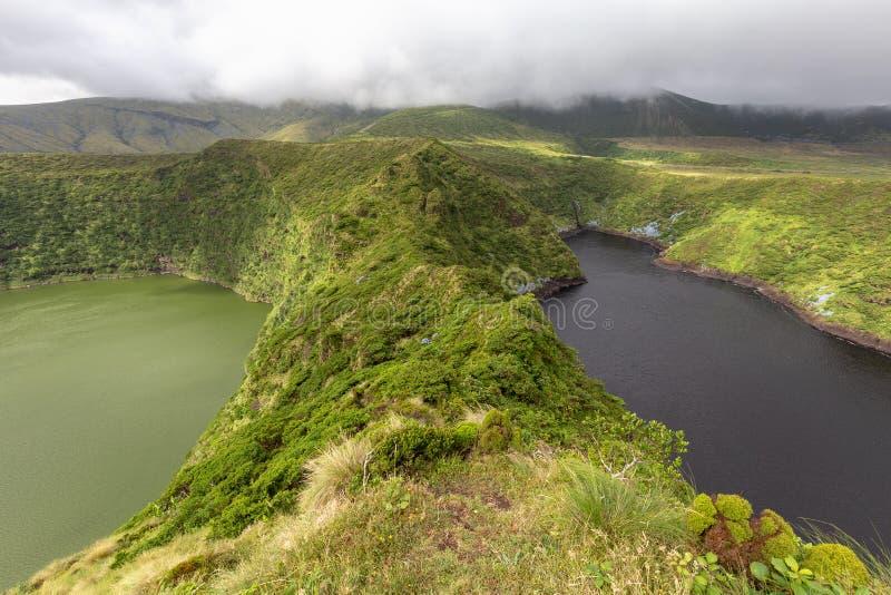 Laghi gemellati crater in Flores immagine stock