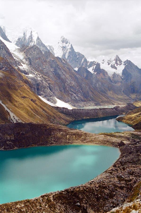 Laghi Huayhuash, Perù fotografie stock libere da diritti
