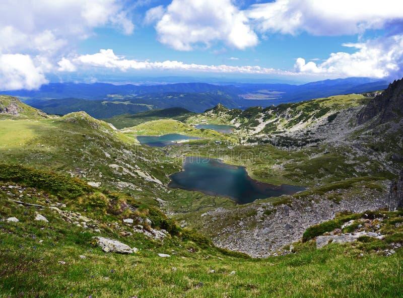 Laghi nella montagna di Rila immagini stock libere da diritti