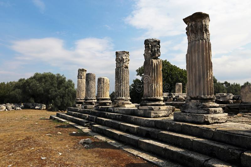 Lagina antic city. In mugla, turkey stock photos