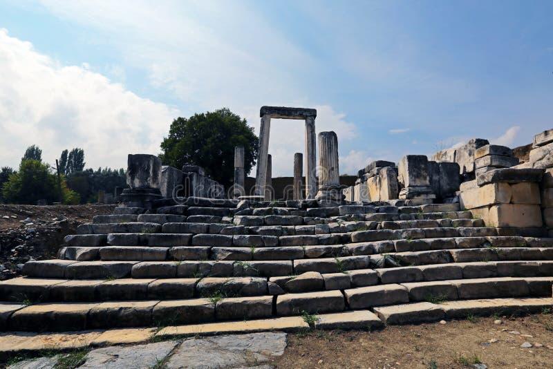 Lagina antic city. In Mugla, Turkey stock photography