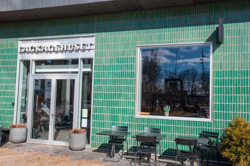 Lagkagehuset bageri i den Carlsberg grannskapen arkivbilder