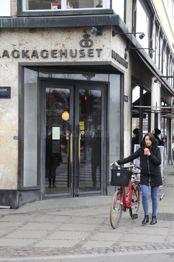 LAGKAHETHUSET DANISH CAKE HOUSE_BAKER. Copenhagen / Denamrk /27 March 2017 - Danish baker with name Lagekagehuset . Photo. Francis Dean/Deanpictures royalty free stock image