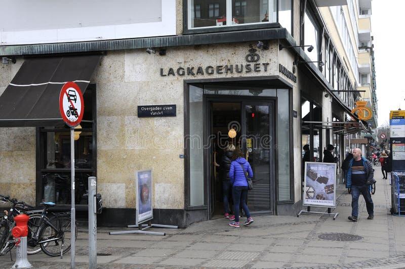 LAGKAHETHUSET DANISH CAKE HOUSE_BAKER. Copenhagen / Denamrk /27 March 2017 - Danish baker with name Lagekagehuset . Photo. Francis Dean/Deanpictures stock photo