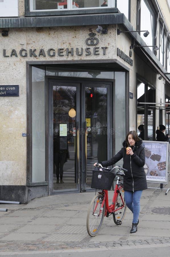 LAGKAHETHUSET DANISH CAKE HOUSE_BAKER. Copenhagen / Denamrk /27 March 2017 - Danish baker with name Lagekagehuset . Photo. Francis Dean/Deanpictures royalty free stock photo