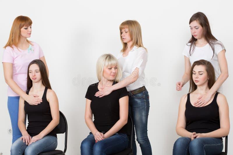 Lagledare och stödgrupp under psykologiskt arkivbild