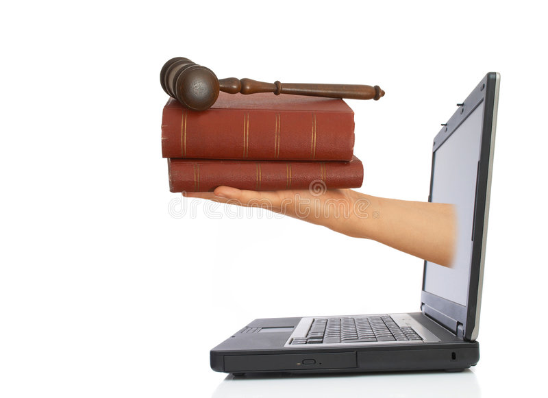 laglig information royaltyfri bild