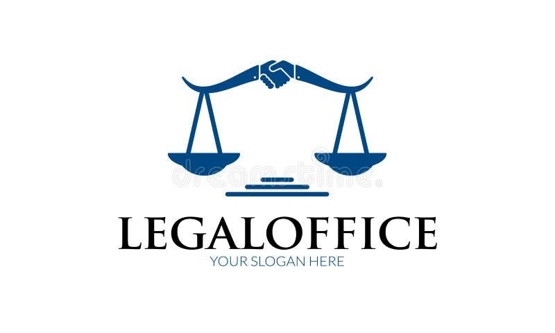 Laglig kontorslogo royaltyfri illustrationer