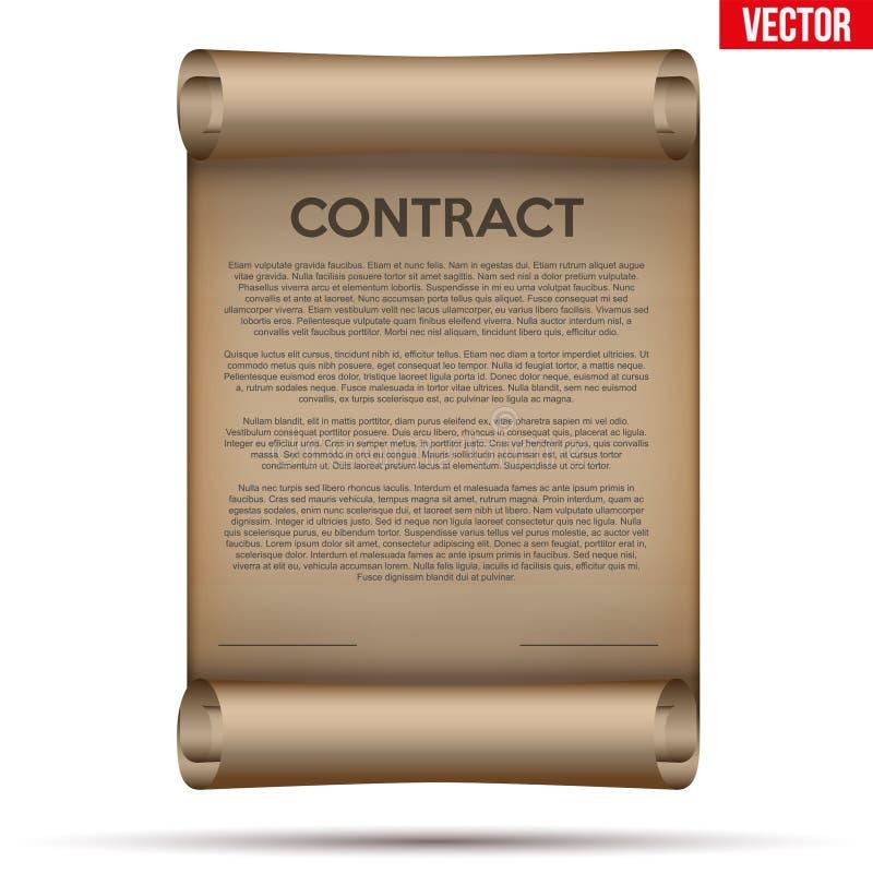 Laglig kontraktskrivning royaltyfri illustrationer