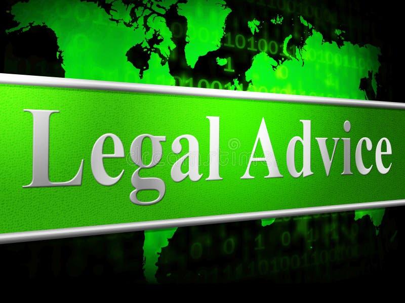 Laglig rådgivning betyder den domlösningen och domstolen vektor illustrationer