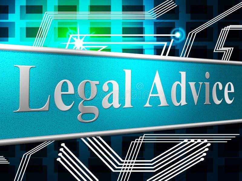 Laglig rådgivning föreställer kunskapshjälp och rättvisa stock illustrationer