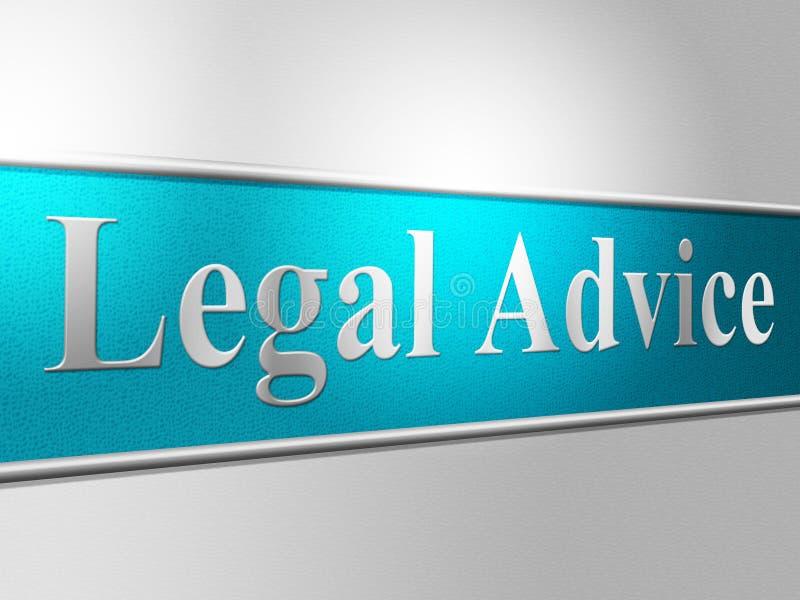 Laglig rådgivning indikerar servicebrottslingen och hjälp royaltyfri illustrationer