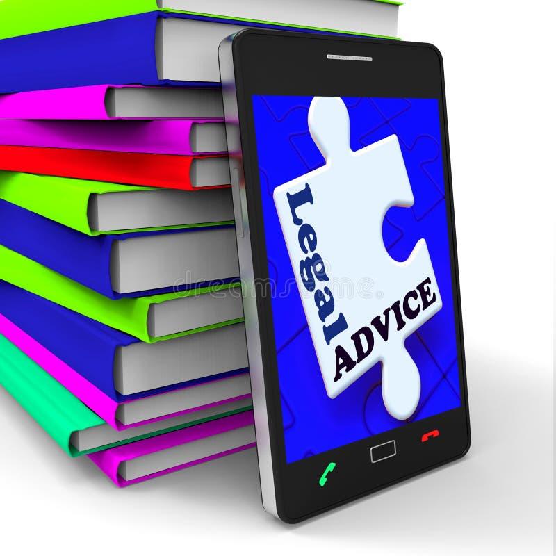 Laglig rådgivning Smartphone betyder advokaten Assistance Internet stock illustrationer