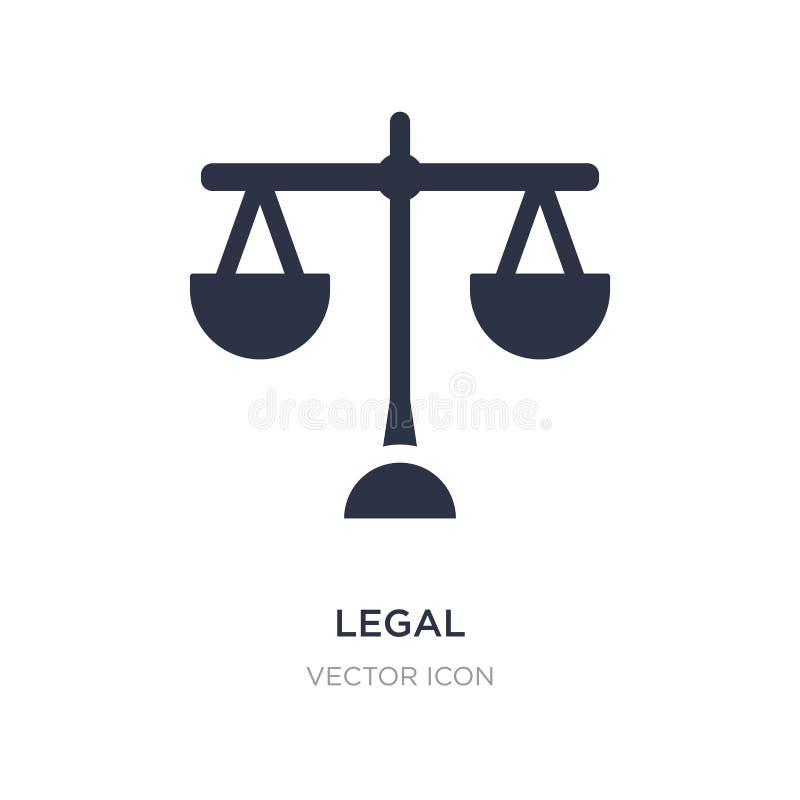 laglig symbol på vit bakgrund Enkel beståndsdelillustration från affärs- och analyticsbegrepp stock illustrationer