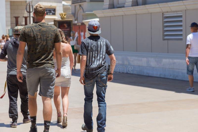 Lagligt öppna bär på den Las Vegas remsan royaltyfria bilder