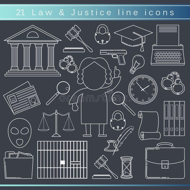 Laglinje symboler stock illustrationer
