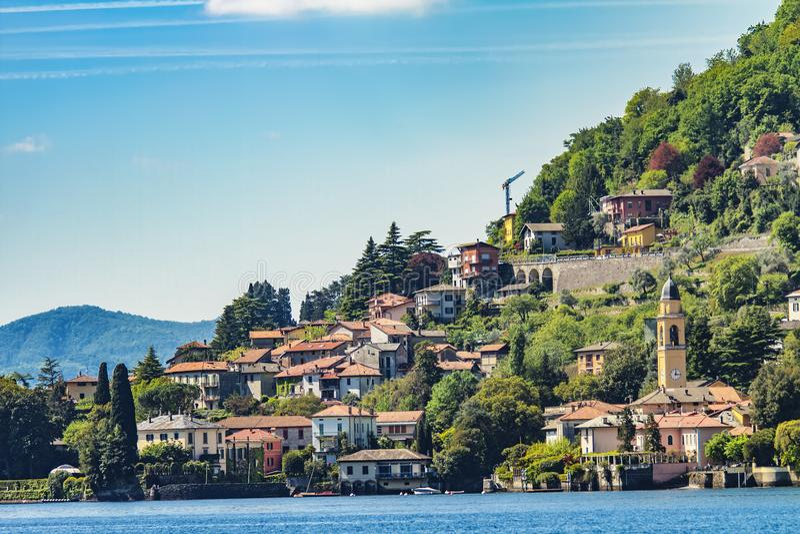 Laglio sul lago Como, Italia fotografie stock