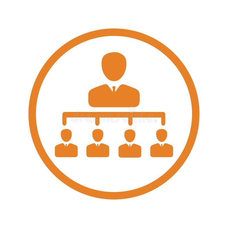 Lagmöte, symbol för affärsmöte stock illustrationer