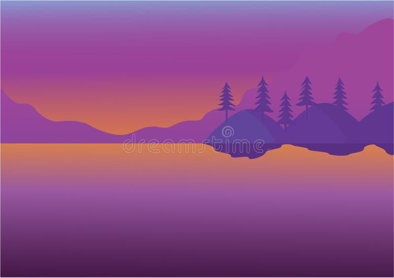 Lago ilustração do vetor