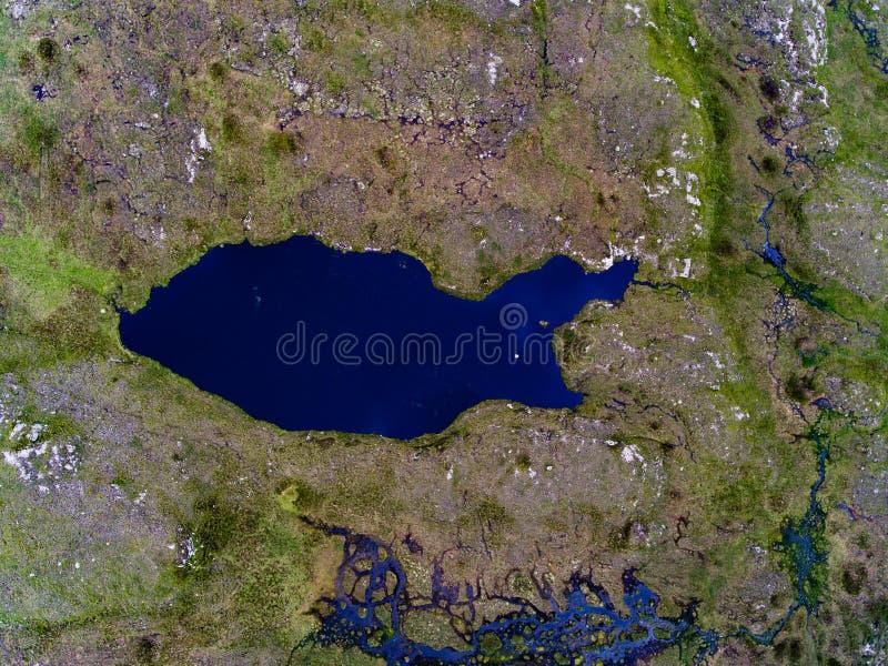 Lago abbrutito fotografia stock