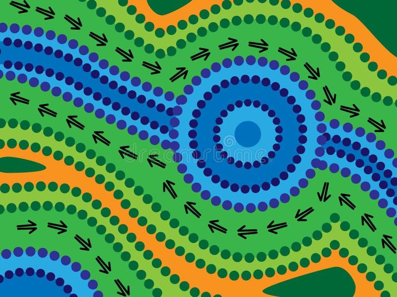 Lago aborigeno illustrazione vettoriale