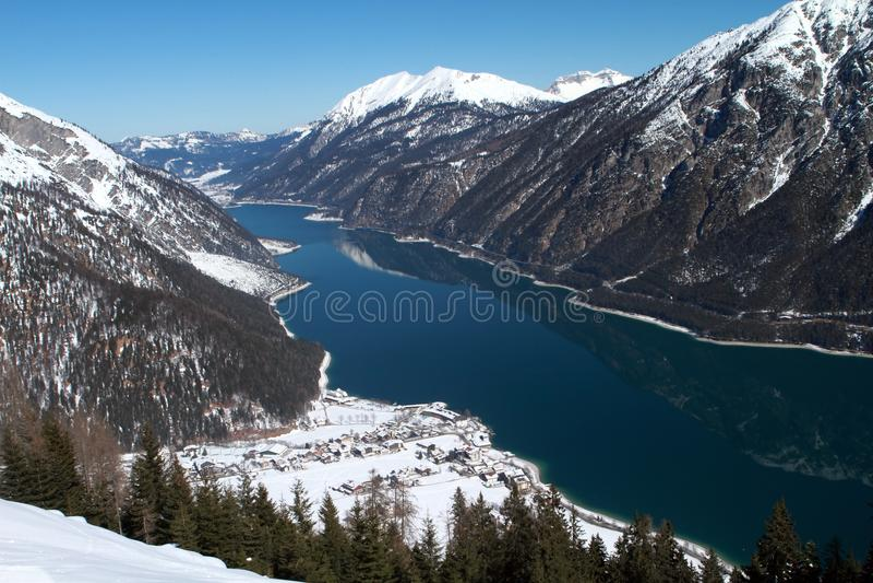 Lago Achensee in Austria immagine stock libera da diritti