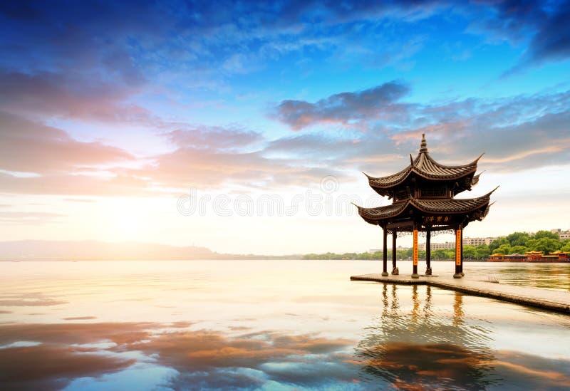 lago ad ovest di hangzhou della porcellana immagini stock libere da diritti