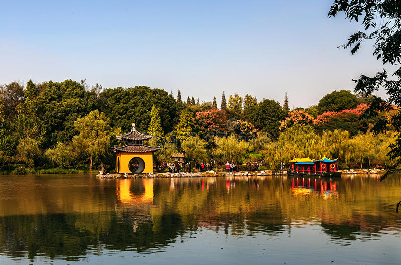 Lago ad ovest snello Yangzhou immagine stock
