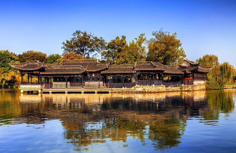 Lago ad ovest snello Yangzhou immagine stock libera da diritti