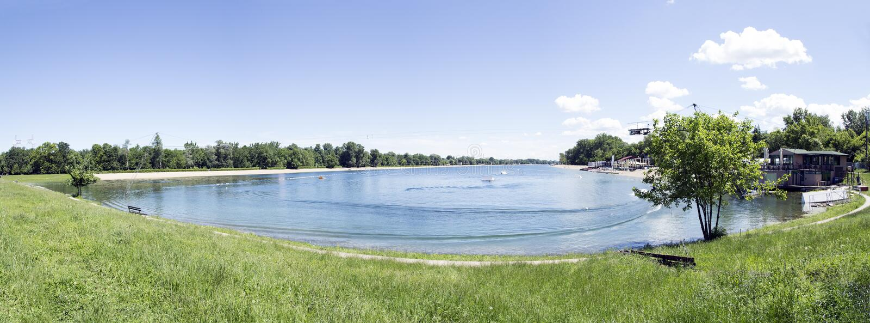 Lago ada Ciganlija imagem de stock
