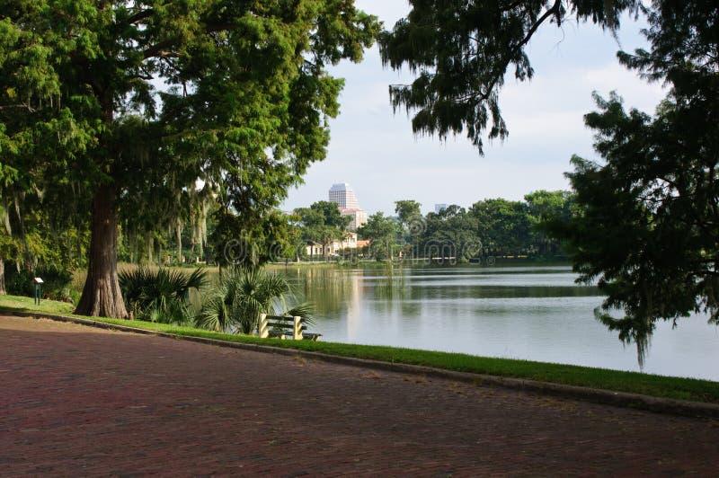 Lago Adair en Orlando, la Florida imágenes de archivo libres de regalías