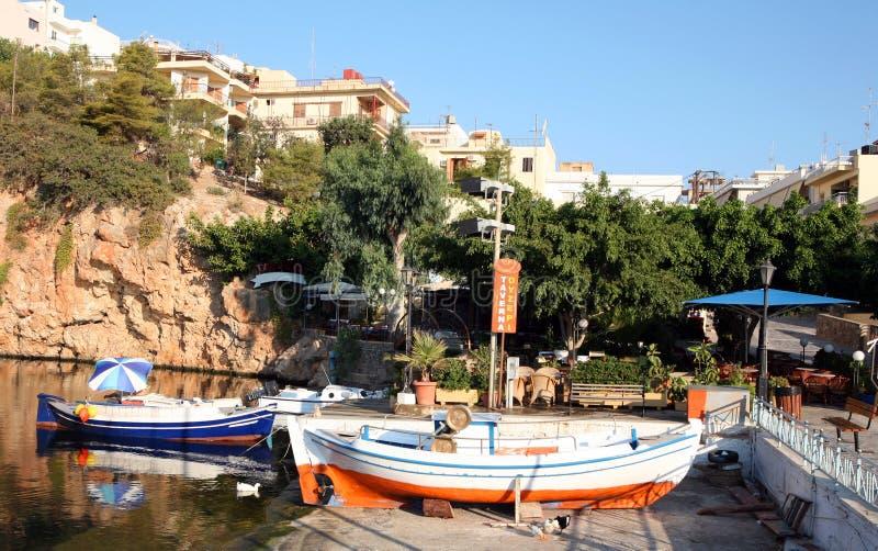 Lago Aghios Nikolaos, Crete immagine stock