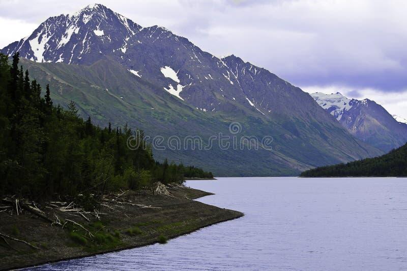 Lago Alaska Eklutna fotografia stock libera da diritti