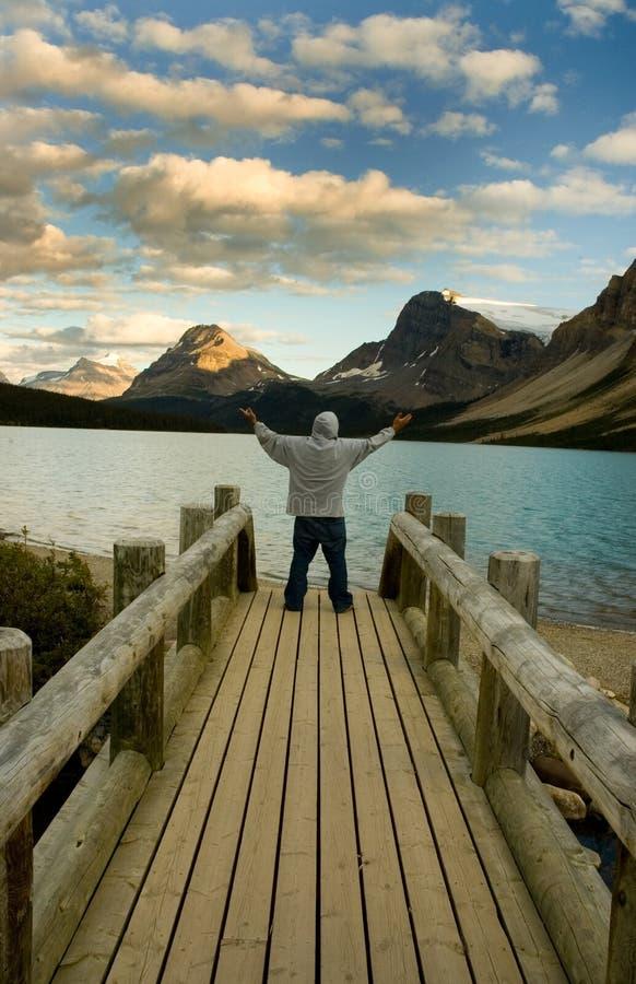 Lago Alberta bow fotografia stock