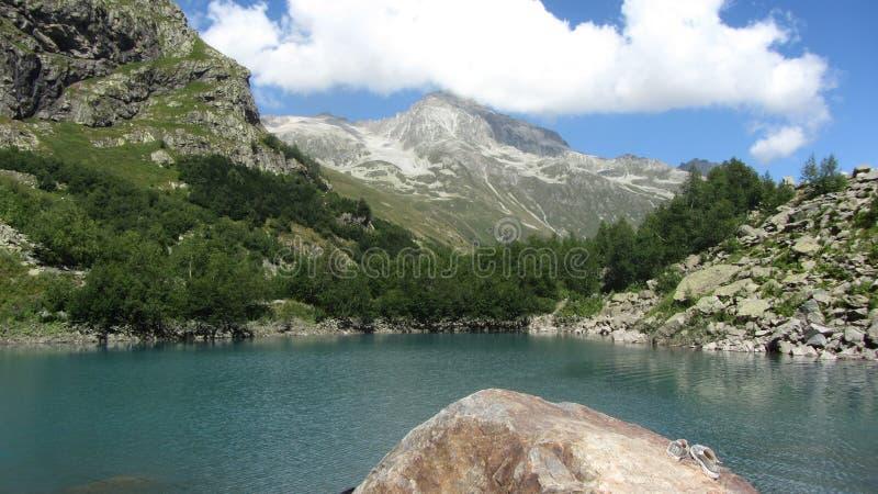 Lago Alibek foto de stock