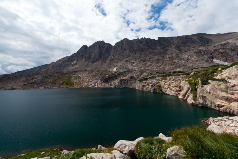 Lago alpino mountain fotografia de stock