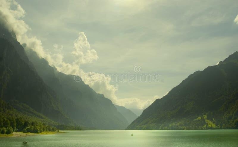 Lago alpino svizzero Klontal fotografia stock libera da diritti