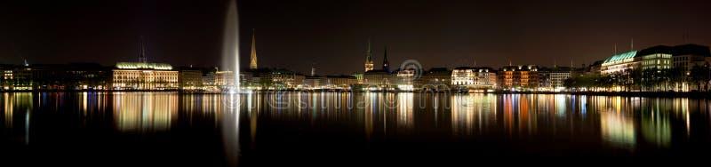 Lago Alster a Amburgo fotografia stock libera da diritti