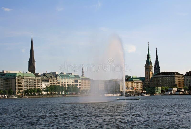 Lago Alster en Hamburgo fotos de archivo libres de regalías