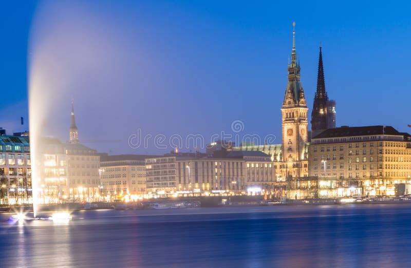 Lago Alster, Hamburgo fotografía de archivo libre de regalías