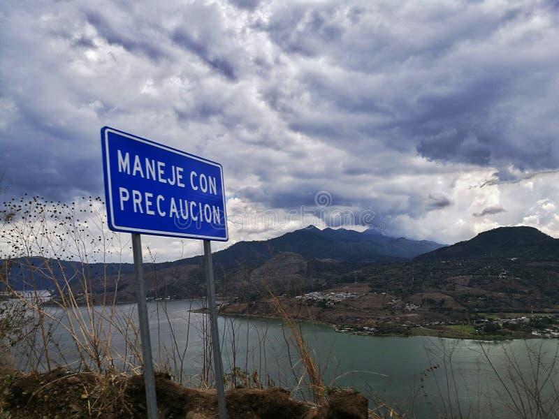 Lago Amatitlan fotografie stock