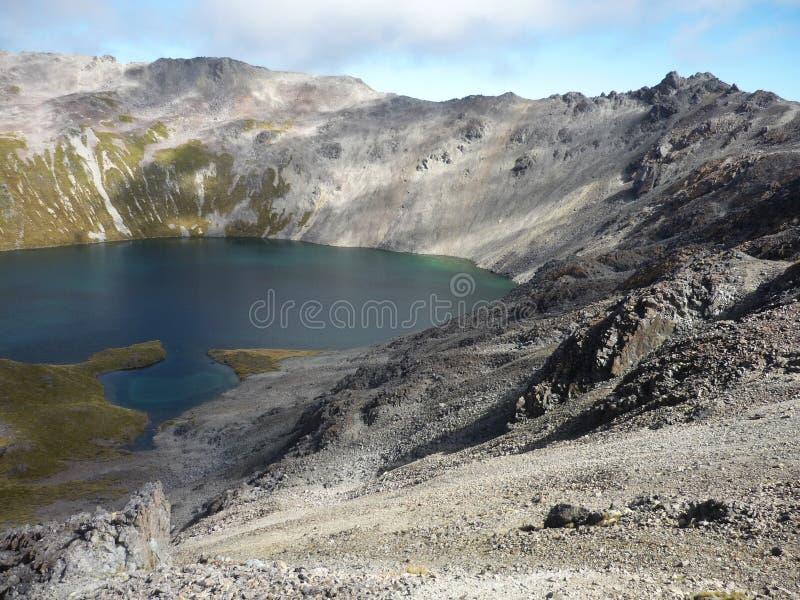 Lago angelus, lagos Nelson, Nova Zelândia foto de stock royalty free