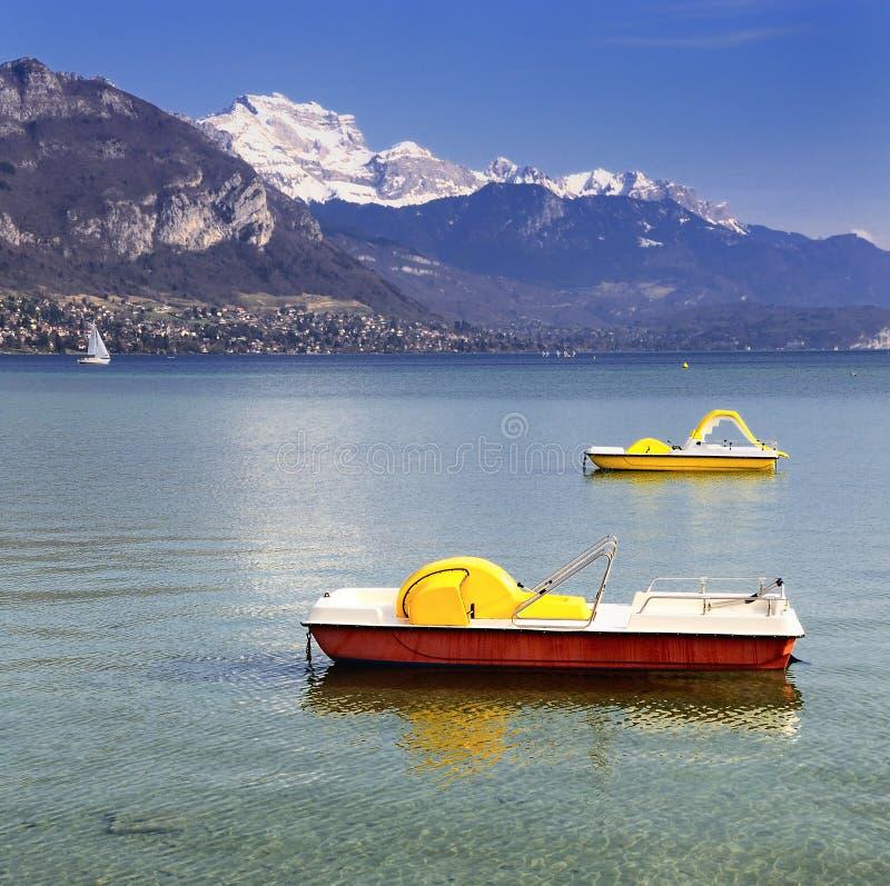 Lago Annecy fotos de archivo