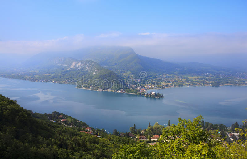 Lago Annecy fotografia stock libera da diritti