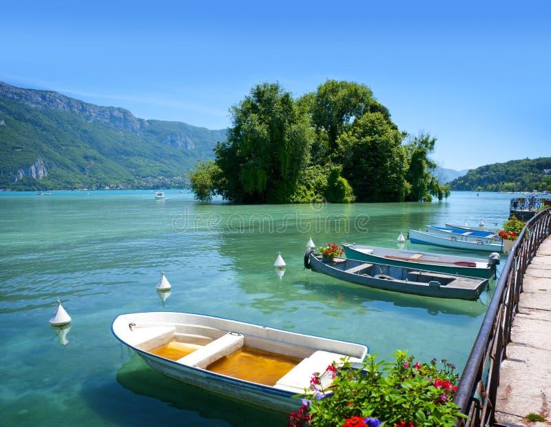 Lago Annecy beauty imágenes de archivo libres de regalías