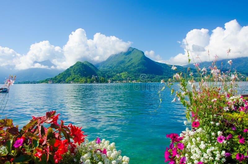 Lago Annecy Francia fotografia stock libera da diritti